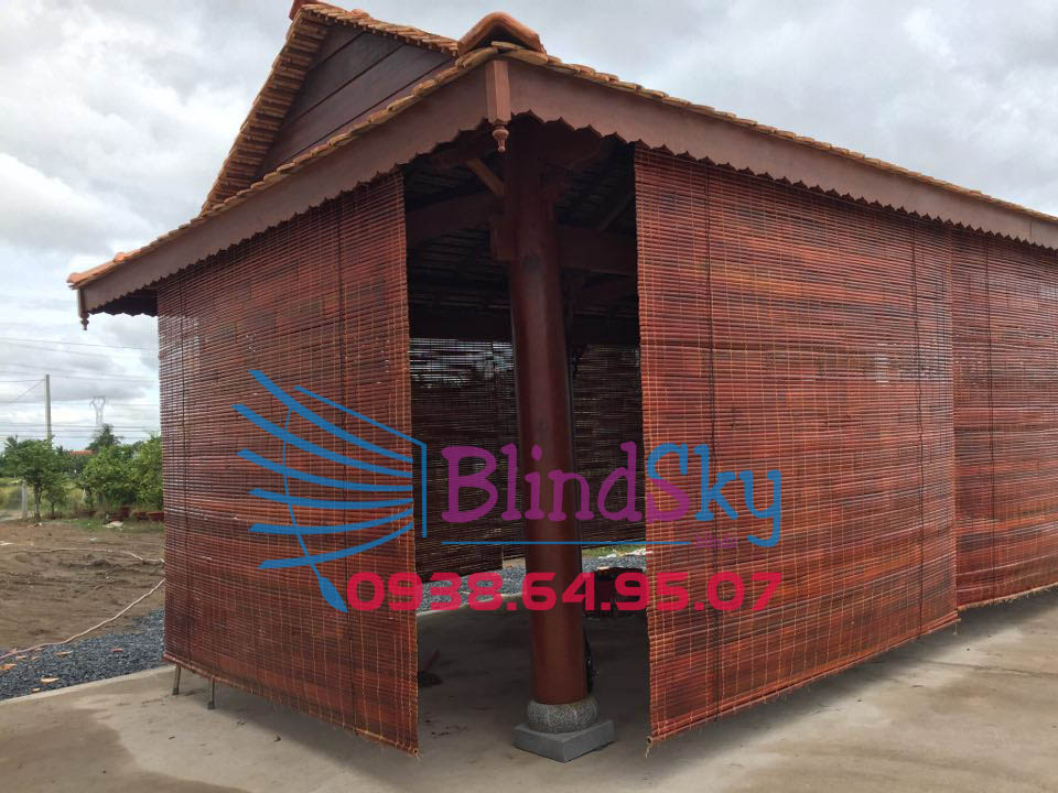 Công trình mành nứa cho nhà gỗ
