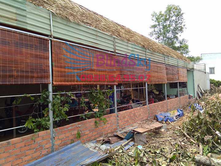 Mành tre trúc chống nắng ở nhà xưởng