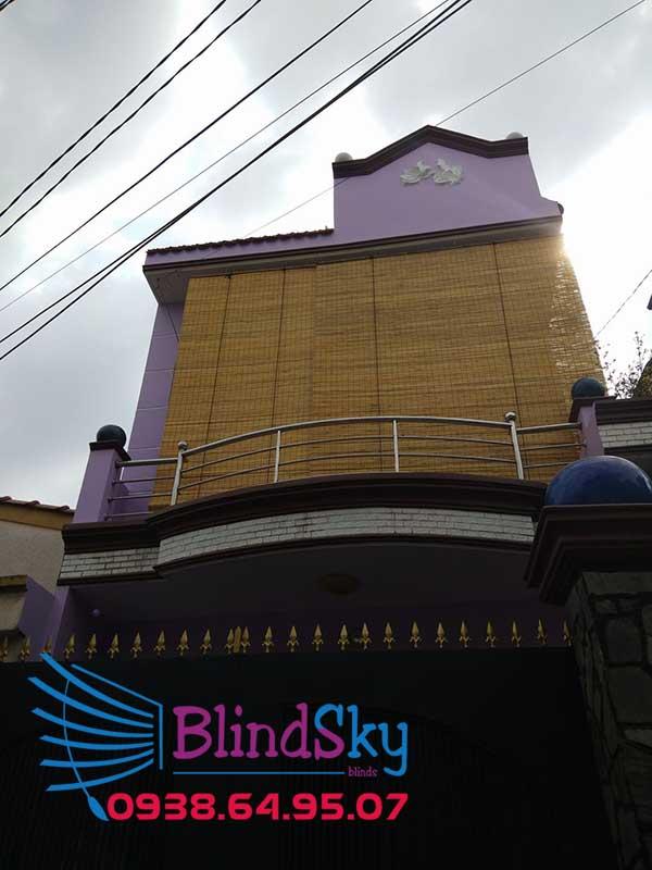 Thi công mành tre trúc chống nắng quận Bình Tân