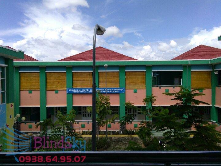 Công trình màn sáo che nắng trường học